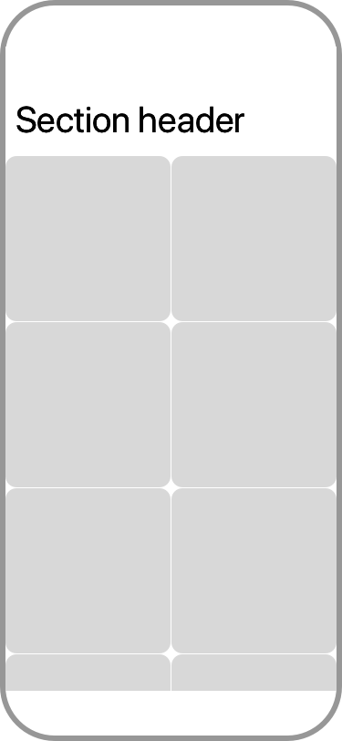 Grid with a section header